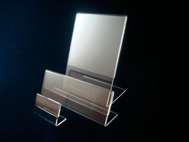 Display porta preço acrílico