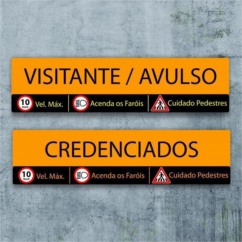 Placas de identificação de condomínios