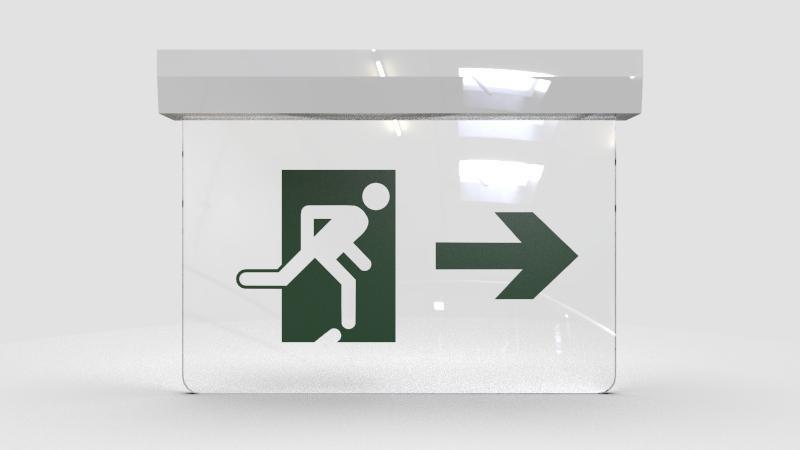 Placas de sinalização de rota de fuga