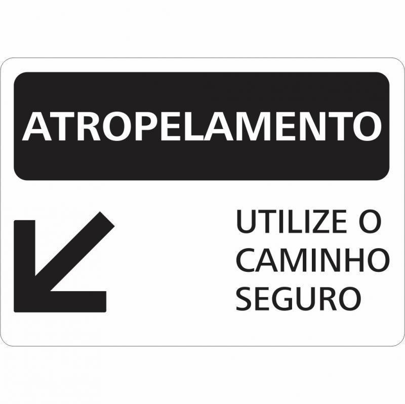 Placas de sinalização de segurança preço