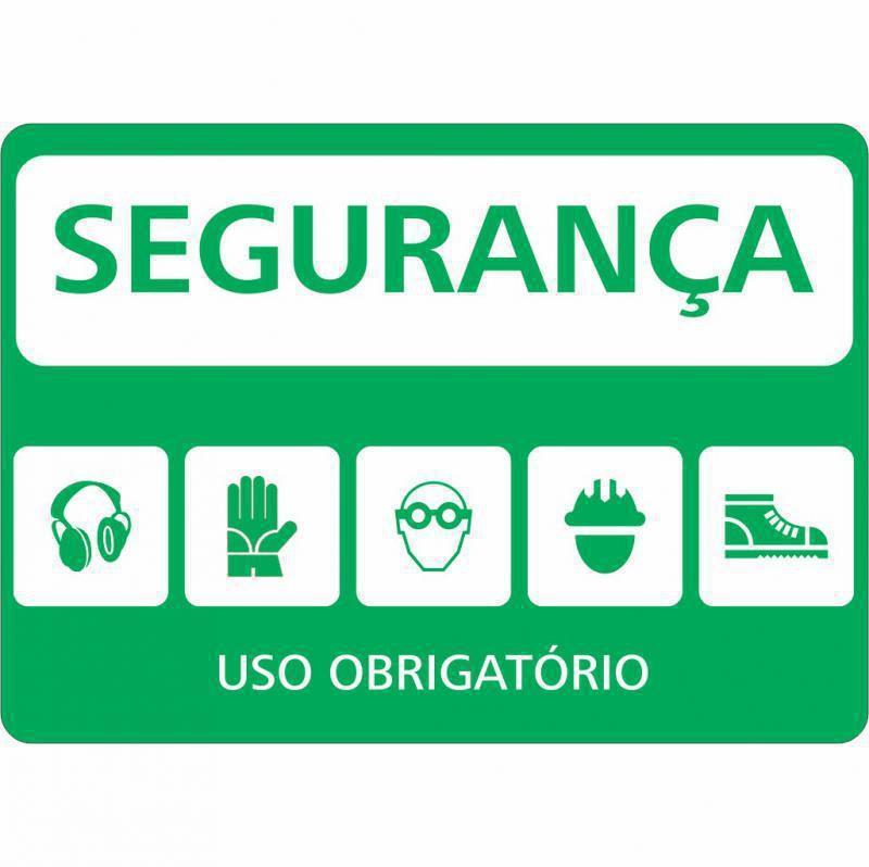 Placas de sinalização de segurança valor