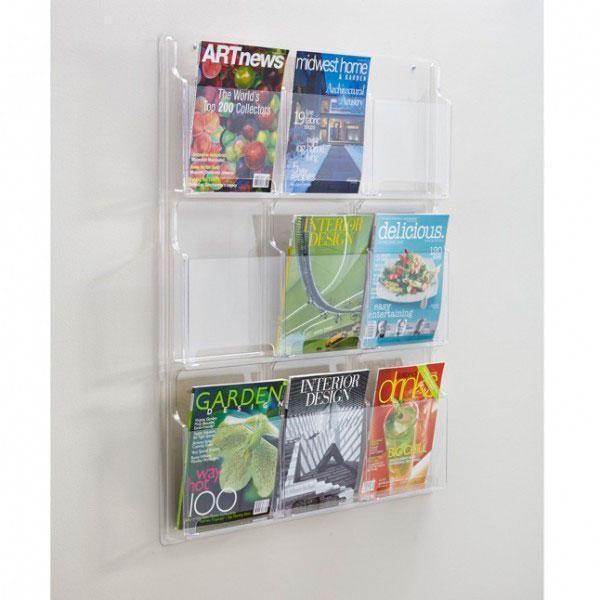 Porta folder acrílico parede
