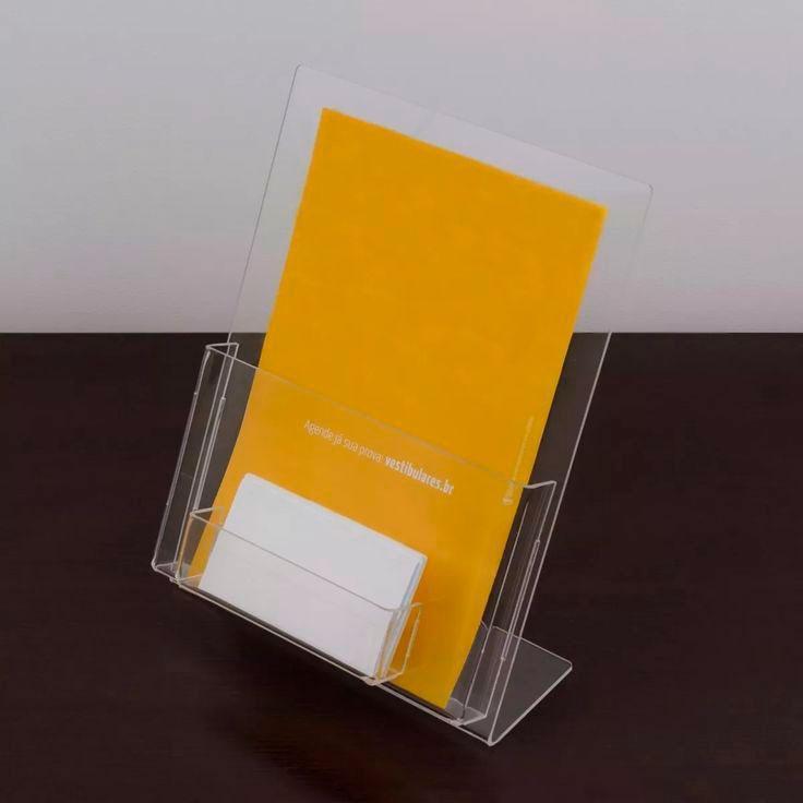 Porta folder acrílico preço